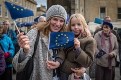 Show your support for the EU and the Bath-Half runners! Photo © RichardJSYoung