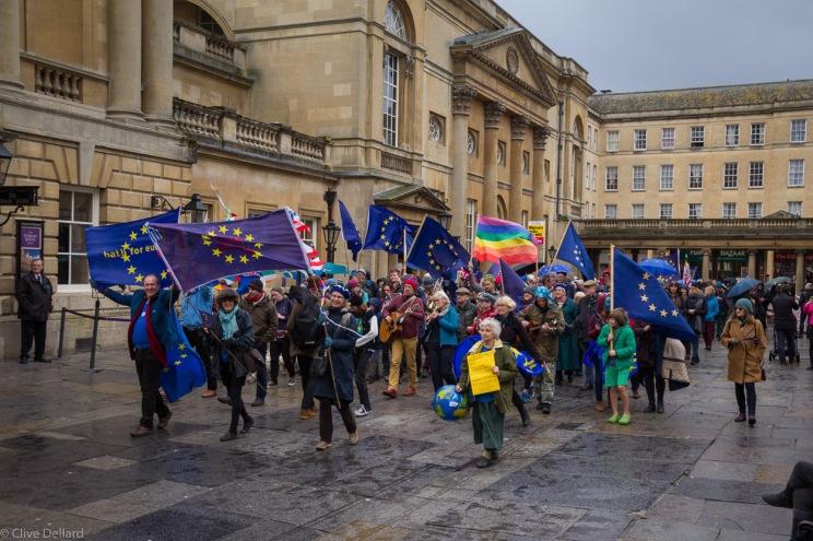 Bath's first Pulse of Europe event 5th March 2017. Photo © Clive Dellard