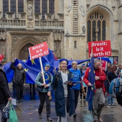 On the march through busy Bath. Photo © Clive Dellard.