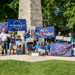 Walking Georgian Bath, special Pulse of Europe. Queen Square, Bath. 3 June 2018. Photo © John Lynch.