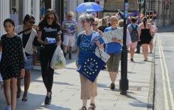 Leafleting on Bath's streets. Photo ©Matthew Perks.