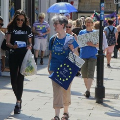 Leafleting on Bath's streets. Photo © Matthew Perks.