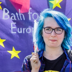 Bath for Europe supporter. 3rd June, 2018. Photo © John Lynch.