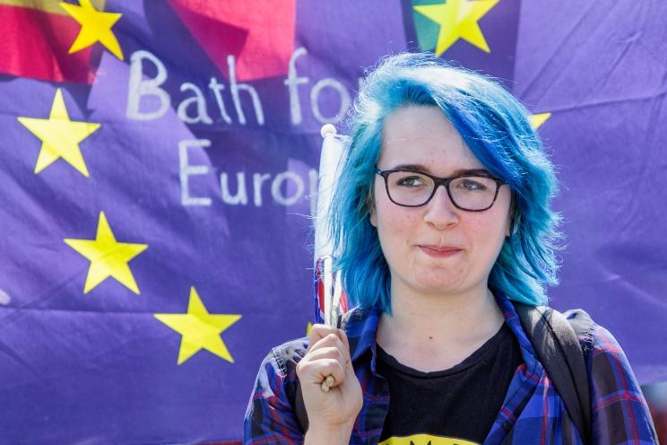 Bath for Europe supporter. 3rd June, 2018. Photo ©John Lynch.