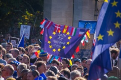 Almost 500 Bath for Europe supporters took part in the #PeoplesVoteMarch. Photo © Clive Dellard.