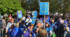 Bath for Europe supporters preparing to march. Photo © Matthew Perks.