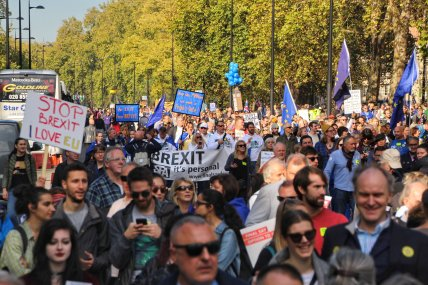 Marchers on the move. Photo © Matthew Perks.