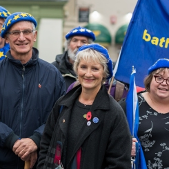 Alison Born (centre) spoke about the impact of Brexit on the NHS. Photo © Joao Diniz Sanches