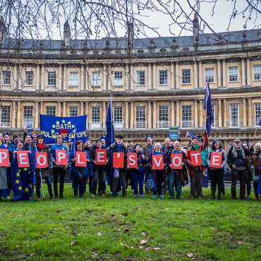 Bath for Europe's People's Vote rally, 6th January 2019. Photo © Clive Dellard.