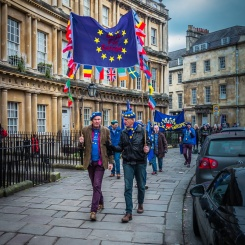 Bath for Europe monthly rally, January 2019. Photo © Clive Dellard.