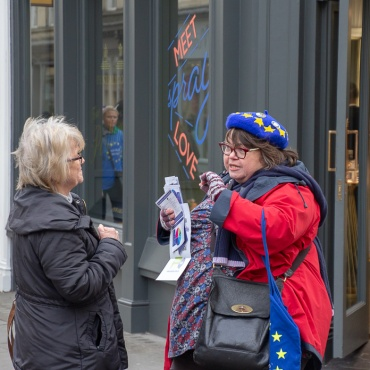 Bath for Europe #PeoplesVote street stall, 12th January 2019. Photo © Clive Dellard.
