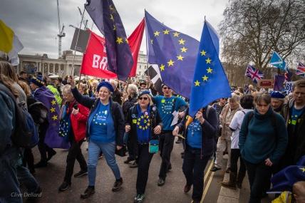 On the march! Photo © Clive Dellard.