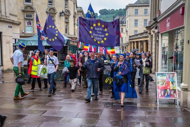 On the march. Photo © Clive Dellard.