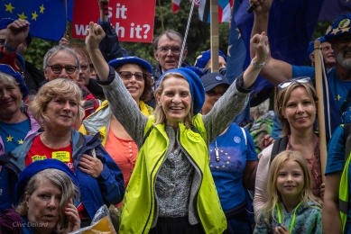 Wera Hobhouse MP with Bath for Europe on #MarchForChange, 20th July. Photo © Clive Dellard.