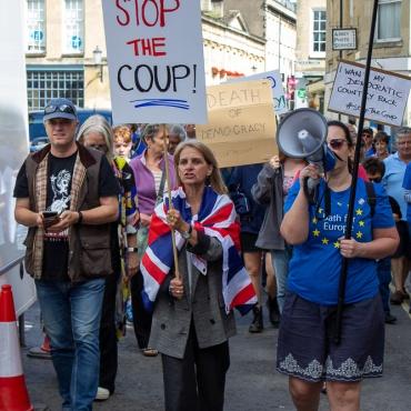 #StopTheCoup rally. Photo © Clive Dellard.