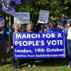 Bath for Europe rally 6th Oct 19. Photo © Joao Diniz Sanches